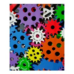 Colorful Toothed Wheels Shower Curtain 60  X 72  (medium)  by Nexatart