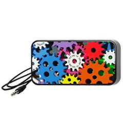 Colorful Toothed Wheels Portable Speaker (black)