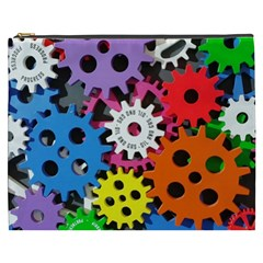 Colorful Toothed Wheels Cosmetic Bag (xxxl)