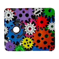 Colorful Toothed Wheels Galaxy S3 (flip/folio) by Nexatart