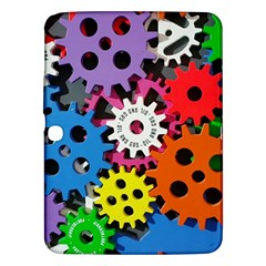 Colorful Toothed Wheels Samsung Galaxy Tab 3 (10 1 ) P5200 Hardshell Case