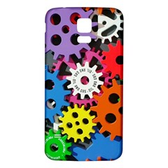 Colorful Toothed Wheels Samsung Galaxy S5 Back Case (white)