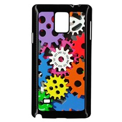 Colorful Toothed Wheels Samsung Galaxy Note 4 Case (black) by Nexatart