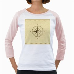 Compass Vintage South West East Girly Raglans