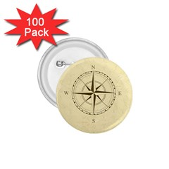 Compass Vintage South West East 1 75  Buttons (100 Pack)