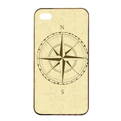 Compass Vintage South West East Apple Iphone 4/4s Seamless Case (black) by Nexatart