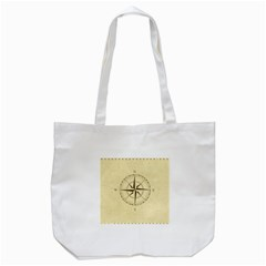Compass Vintage South West East Tote Bag (white)