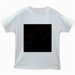 Dark Background Pattern Kids White T Shirts