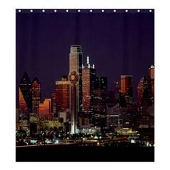 Dallas Texas Skyline Dusk Shower Curtain 66  X 72  (large)
