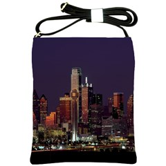 Dallas Texas Skyline Dusk Shoulder Sling Bags by Nexatart