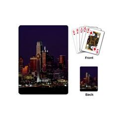 Dallas Texas Skyline Dusk Playing Cards (mini)