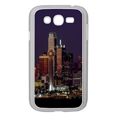 Dallas Texas Skyline Dusk Samsung Galaxy Grand Duos I9082 Case (white) by Nexatart