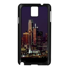 Dallas Texas Skyline Dusk Samsung Galaxy Note 3 N9005 Case (black)