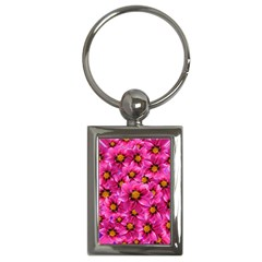 Dahlia Flowers Pink Garden Plant Key Chains (rectangle)  by Nexatart