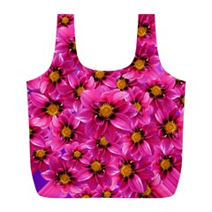 Dahlia Flowers Pink Garden Plant Full Print Recycle Bags (l)  by Nexatart