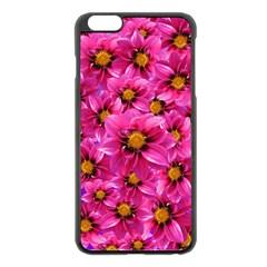 Dahlia Flowers Pink Garden Plant Apple Iphone 6 Plus/6s Plus Black Enamel Case