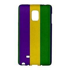 Mardi Gras Striped Pattern Galaxy Note Edge by dflcprints