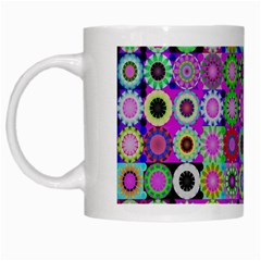 Design Circles Circular Background White Mugs