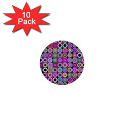 Design Circles Circular Background 1  Mini Buttons (10 Pack)  by Nexatart