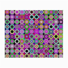 Design Circles Circular Background Small Glasses Cloth (2 Side) by Nexatart
