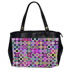 Design Circles Circular Background Office Handbags (2 Sides)  by Nexatart