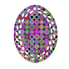 Design Circles Circular Background Oval Filigree Ornament (two Sides) by Nexatart