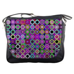 Design Circles Circular Background Messenger Bags