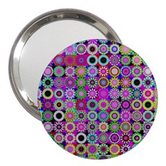 Design Circles Circular Background 3  Handbag Mirrors by Nexatart