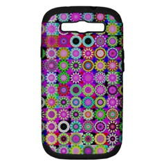 Design Circles Circular Background Samsung Galaxy S Iii Hardshell Case (pc+silicone) by Nexatart