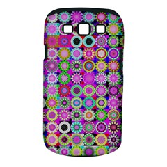 Design Circles Circular Background Samsung Galaxy S Iii Classic Hardshell Case (pc+silicone) by Nexatart