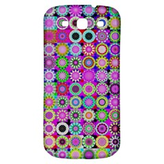 Design Circles Circular Background Samsung Galaxy S3 S Iii Classic Hardshell Back Case by Nexatart