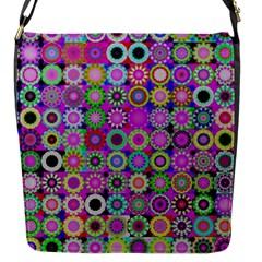 Design Circles Circular Background Flap Messenger Bag (s) by Nexatart