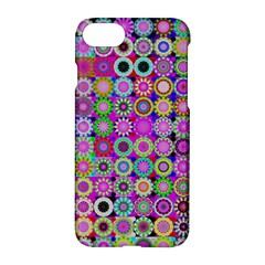 Design Circles Circular Background Apple Iphone 7 Hardshell Case by Nexatart