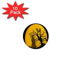 Death Haloween Background Card 1  Mini Magnet (10 Pack)  by Nexatart