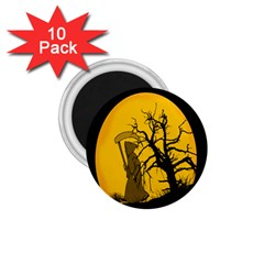 Death Haloween Background Card 1 75  Magnets (10 Pack)  by Nexatart