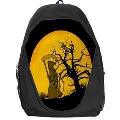 Death Haloween Background Card Backpack Bag