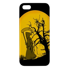 Death Haloween Background Card Apple Iphone 5 Premium Hardshell Case