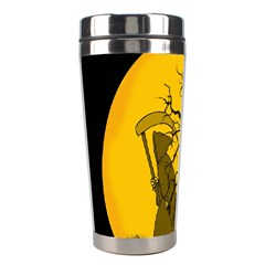 Death Haloween Background Card Stainless Steel Travel Tumblers by Nexatart
