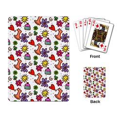 Doodle Wallpaper Playing Card