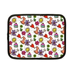 Doodle Wallpaper Netbook Case (small)