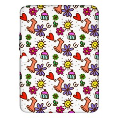 Doodle Wallpaper Samsung Galaxy Tab 3 (10 1 ) P5200 Hardshell Case