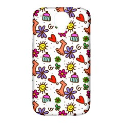 Doodle Wallpaper Samsung Galaxy S4 Classic Hardshell Case (pc+silicone) by Nexatart