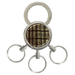 Detail Golden Gold Ornaments 3 Ring Key Chains by Nexatart