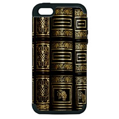 Detail Golden Gold Ornaments Apple Iphone 5 Hardshell Case (pc+silicone)
