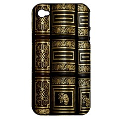 Detail Golden Gold Ornaments Apple Iphone 4/4s Hardshell Case (pc+silicone)