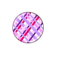 Diagonal Gingham Geometric Hat Clip Ball Marker by Nexatart
