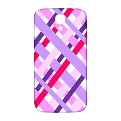 Diagonal Gingham Geometric Samsung Galaxy S4 I9500/i9505  Hardshell Back Case by Nexatart