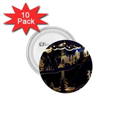Christmas Advent Candle Arches 1 75  Buttons (10 Pack) by Nexatart
