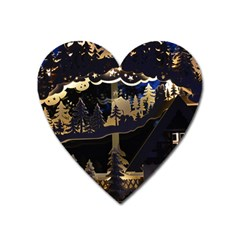 Christmas Advent Candle Arches Heart Magnet by Nexatart