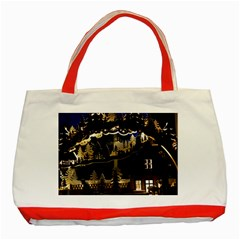 Christmas Advent Candle Arches Classic Tote Bag (red) by Nexatart